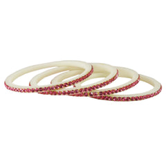 Buy White Color Acrylic Bangle
