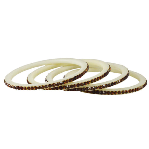 White Color Acrylic Bangle  - ban1582