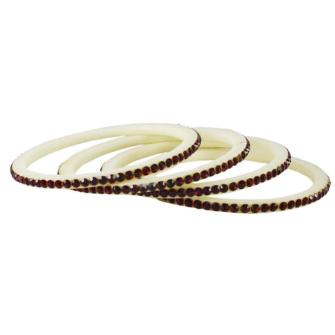 White Color Acrylic Bangle  - ban1583