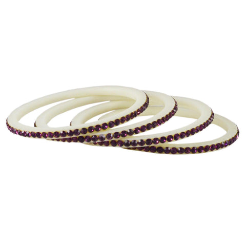 White Color Acrylic Bangle  - ban1584