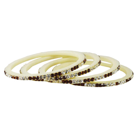 White Color Acrylic Bangle  - ban1587