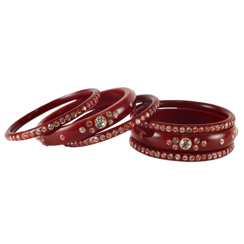 Red Color Acrylic Bangle  - ban1596