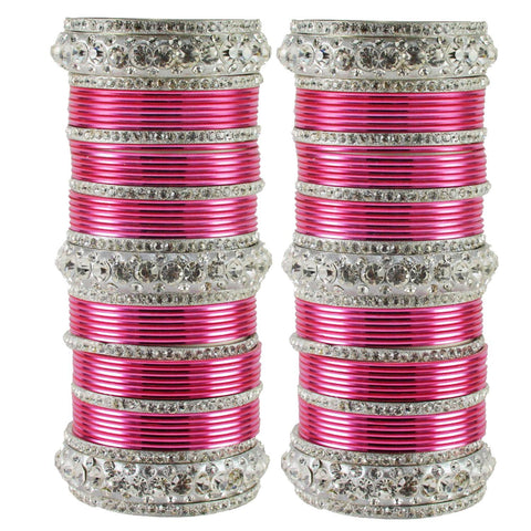 Pink Color Brass Bangle  - ban1604