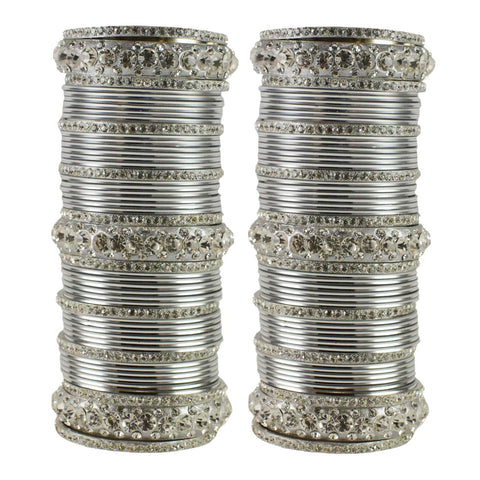 Silver Color Brass Bangle  - ban1605