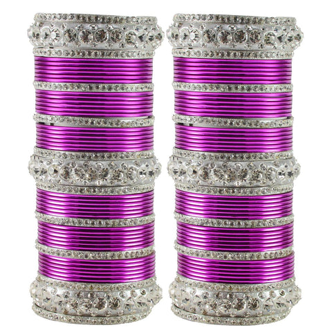Dark Rani Color Brass Bangle  - ban1609