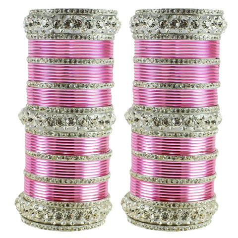 Light Pink Color Brass Bangle  - ban1616