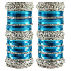 Buy Firozi Color Brass Bangle
