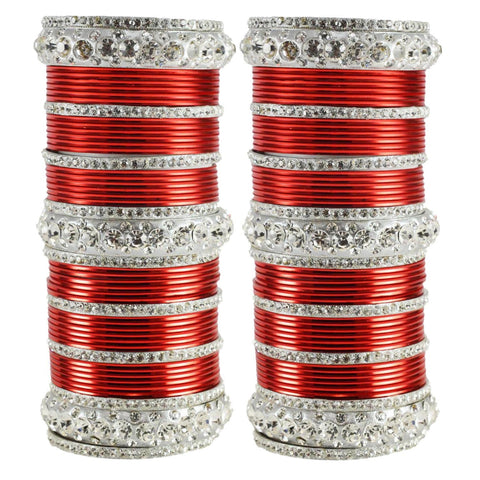 Red Color Brass Bangle  - ban1618