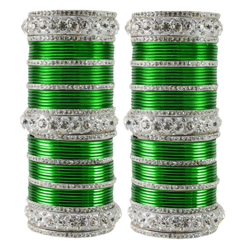 Light Green Color Brass Bangle  - ban1626