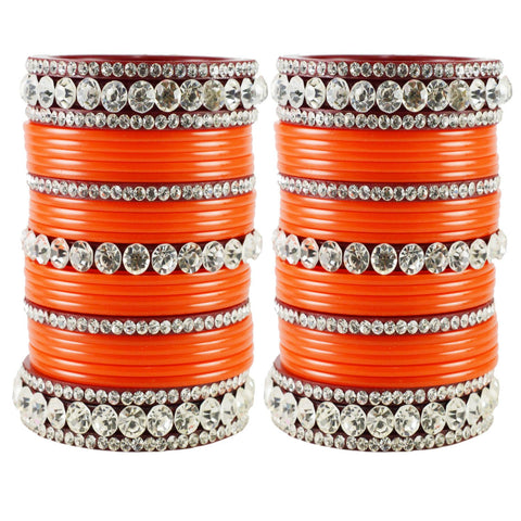 Orange Color Acrylic Bangle  - ban1670