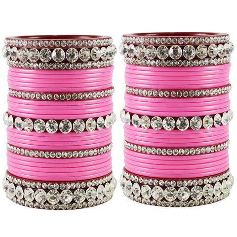 LightPink Color Acrylic Bangle  - ban1676