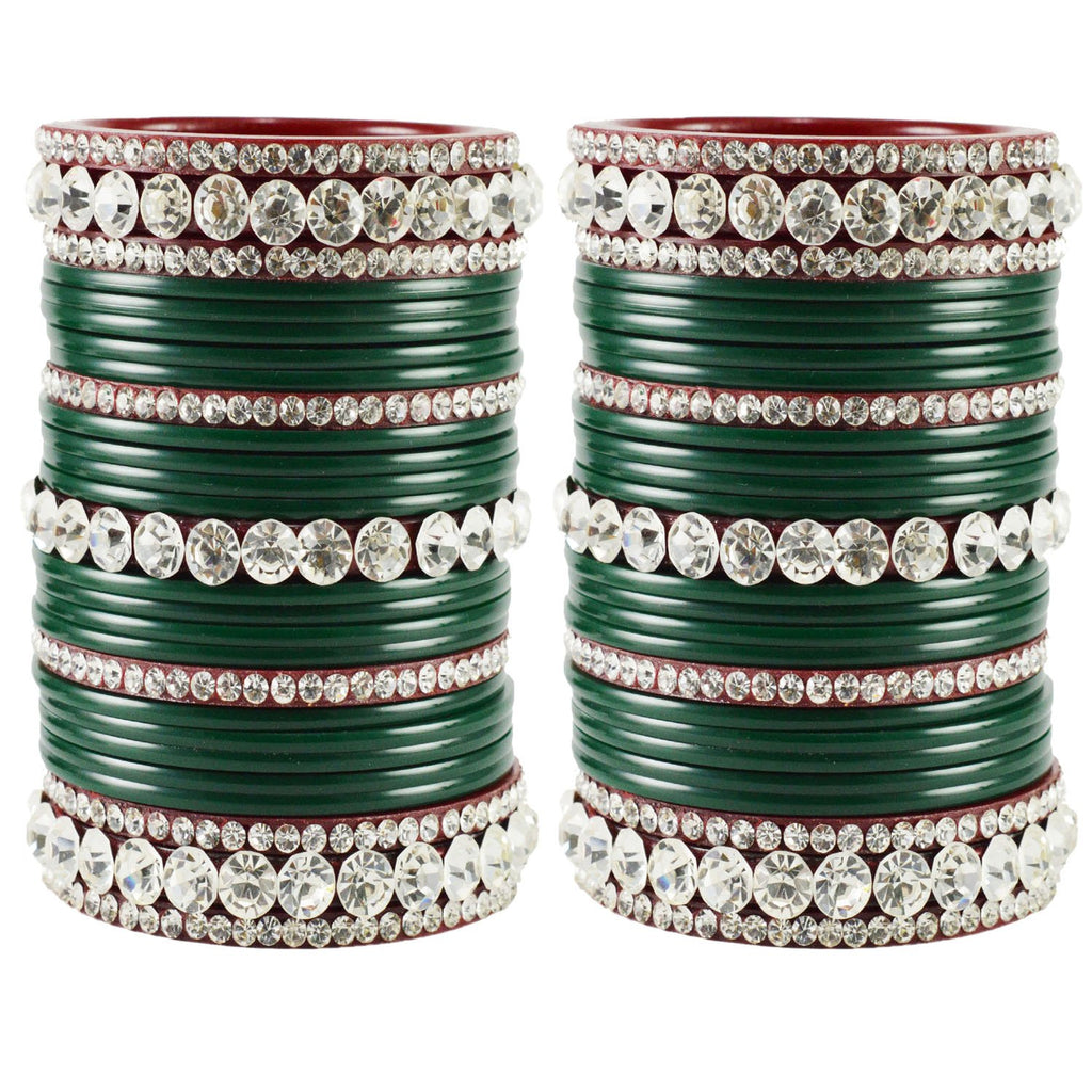 Buy Green Color Acrylic Bangle