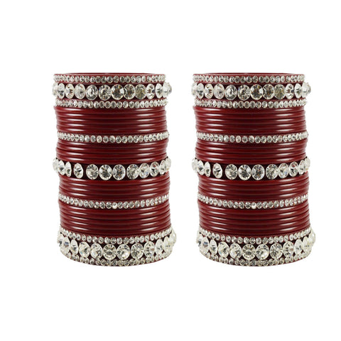 Maroon Color Acrylic Bangle  - ban1680