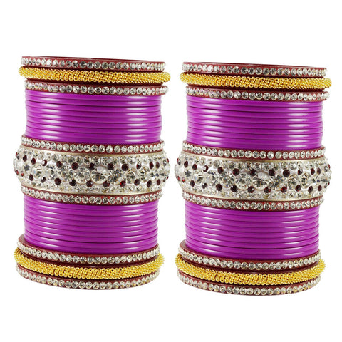 Rani Color  Acrylic  Stone Stud  Bangle - ban1868