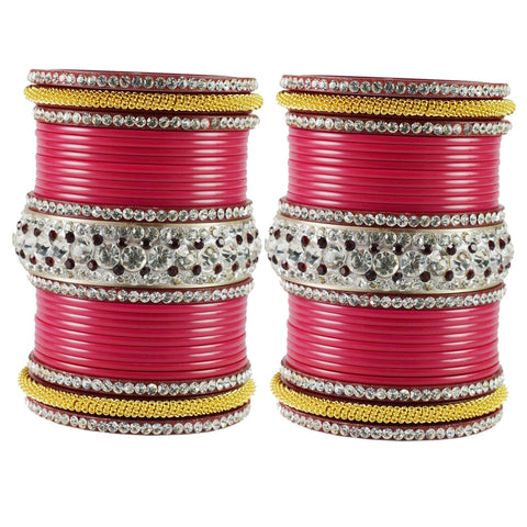 Gajari Color  Acrylic  Stone Stud  Bangle - ban1877
