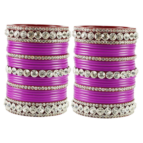 Rani Color  Acrylic  Stone Stud  Bangle - ban1882