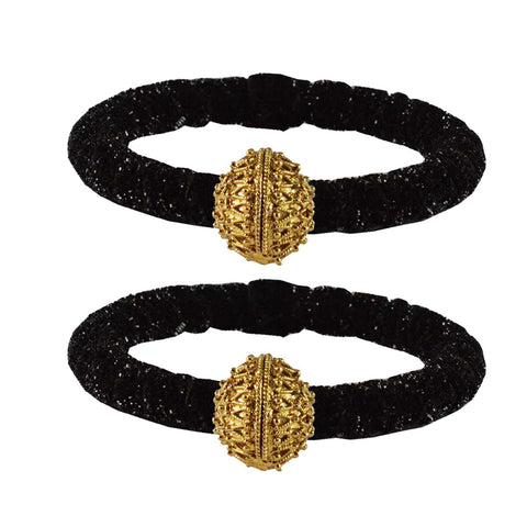 Black Color Brass Plain Bangle - ban2183