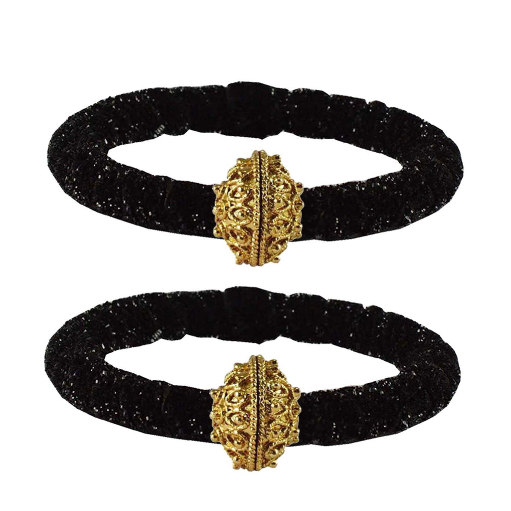 Buy Black Color Brass Plain Bangle