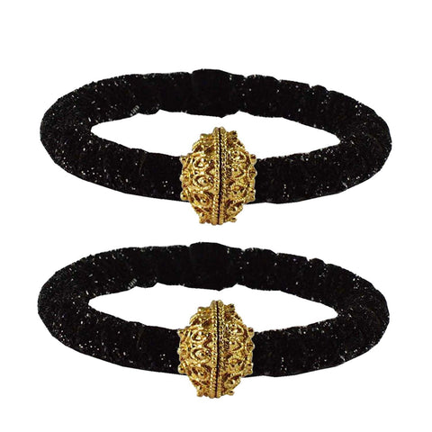 Black Color Brass Plain Bangle - ban2184