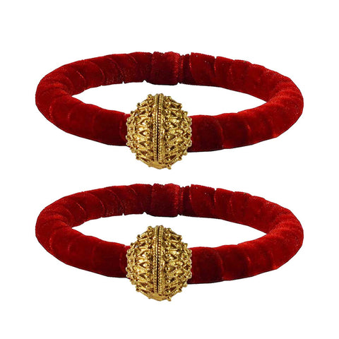 Red Color Brass Plain Bangle - ban2217