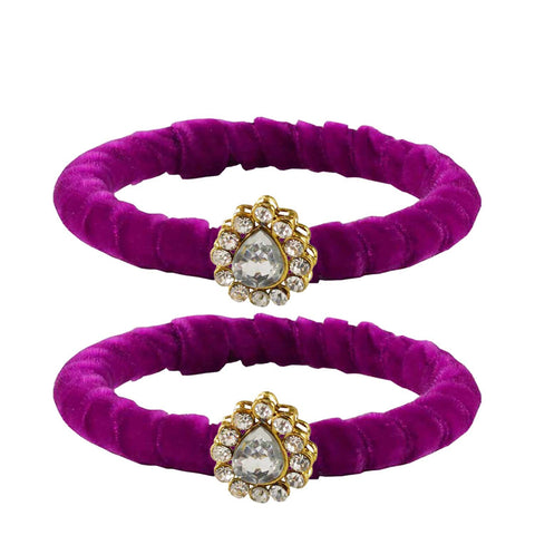 Rani Color Brass Stone Stud Bangle - ban2257