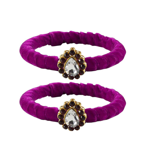 Rani Color Brass Stone Stud Bangle - ban2264