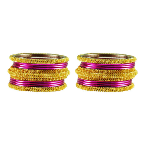 Dark Rani Color Plain Brass Bangle - ban2793