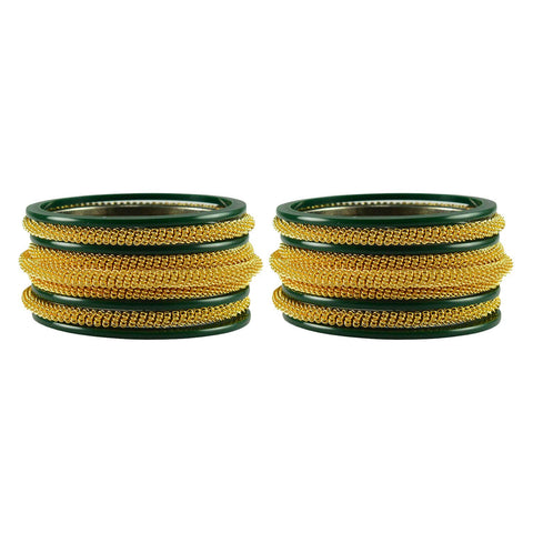Green Color Plain Acrylic-Brass Bangle - ban2846