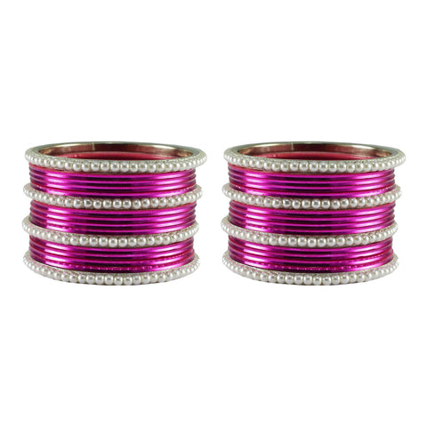 Dark Rani  Color Moti Brass Bangle - ban2914