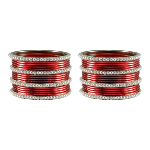 Red Color Moti Brass Bangle - ban2917