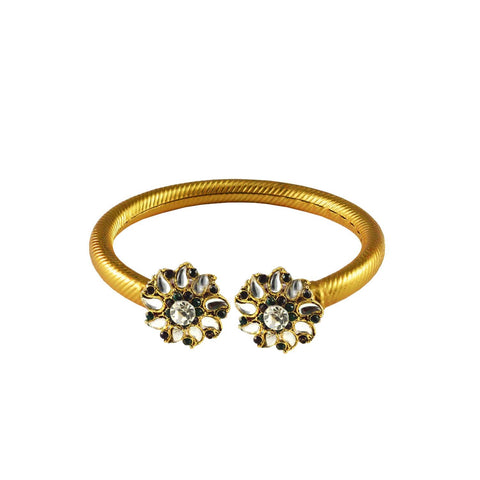 Golden Color Stone  Brass Bangle - ban2999
