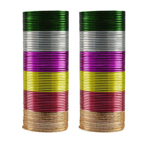 Multi Color Plain Metal Bangle - ban3475