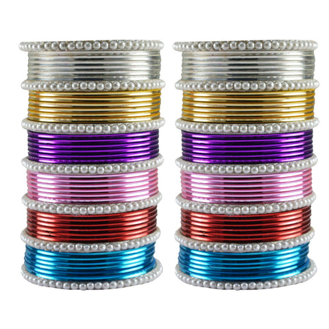 Multi Color Moti Brass Bangle - ban3480