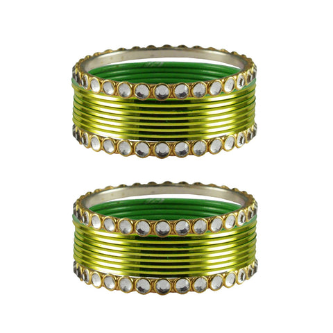 Totai Color Stone Stud Metal Bangle - ban4099