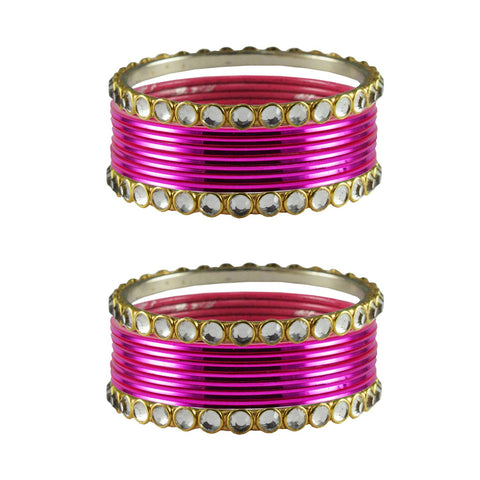 Rani Color Stone Stud Metal Bangle - ban4112