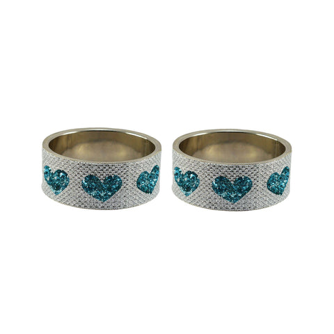 White Color Brass Stone Stud Bangle  - ban7431