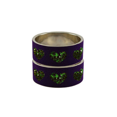Purple Color Brass Stone Stud Bangle  - ban7458