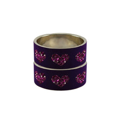 Purple Color Brass Stone Stud Bangle - ban7473