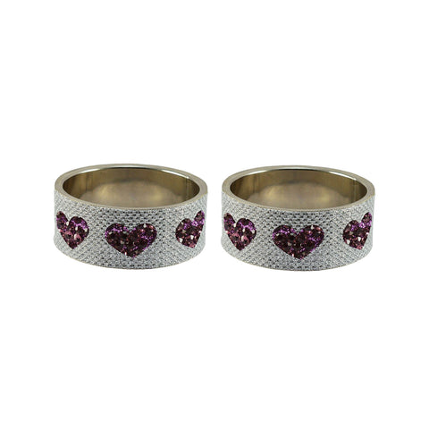 White Color Brass Stone Stud Bangle - ban7494