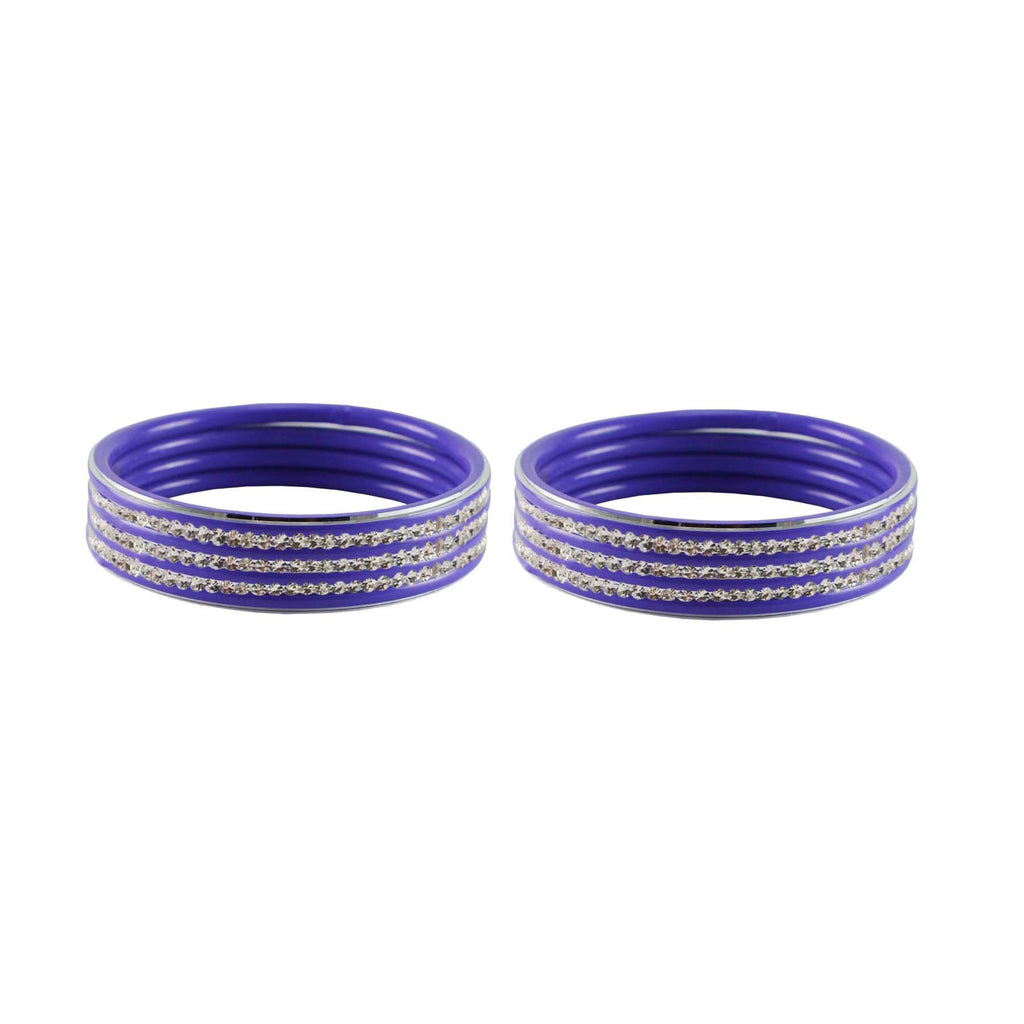 Buy Purple Color Metal Stone Stud Bangle