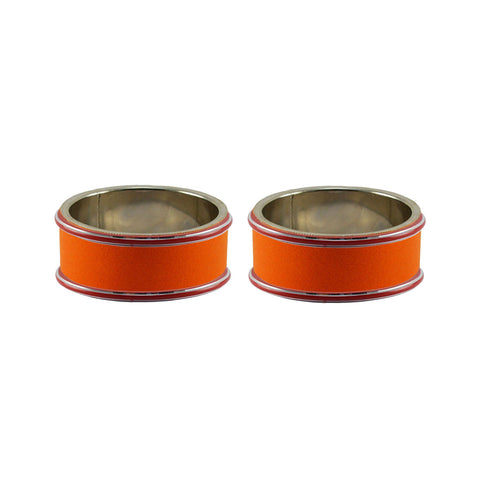 Orange Color Metal Plain Bangle - ban7781
