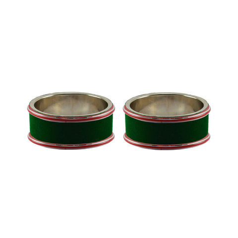 Green Color Metal Plain Bangle - ban7783