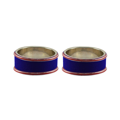 Blue Color Metal Plain Bangle - ban7788