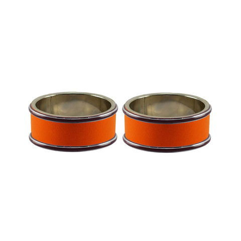 Orange Color Metal Plain Bangle - ban7797