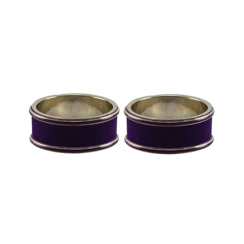 Purple Color Metal Plain Bangle - ban7798
