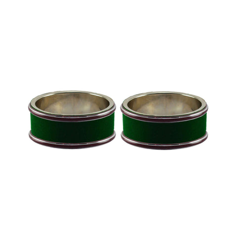 Green Color Metal Plain Bangle - ban7799