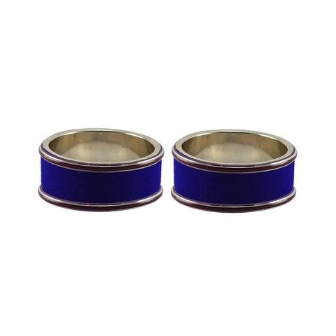 Blue Color Metal Plain Bangle - ban7804