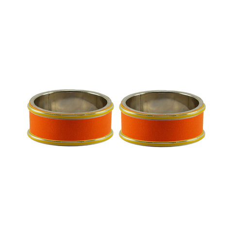 Orange Color Metal Plain Bangle - ban7813