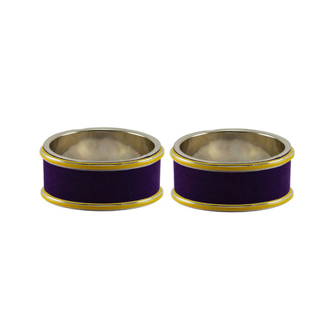 Purple Color Metal Plain Bangle - ban7814