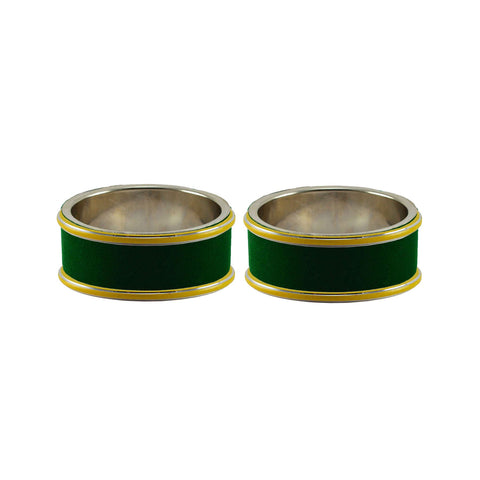 Green Color Metal Plain Bangle - ban7815